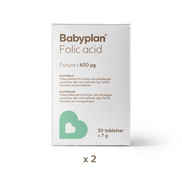 Babyplan folsyre 2 pakker