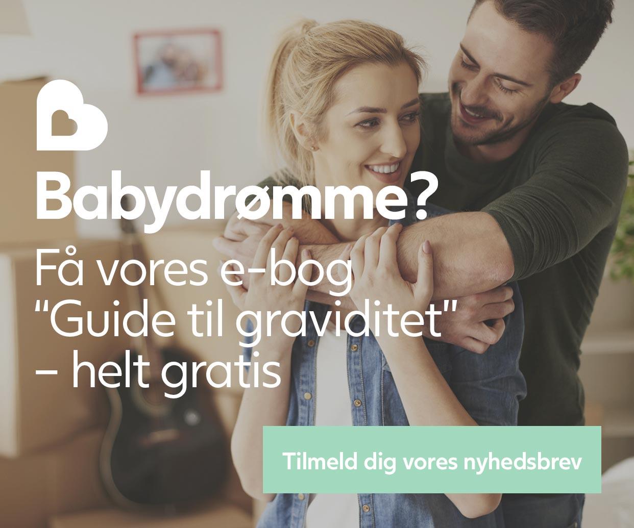 Få vores gratis e-bog Guide til graviditet