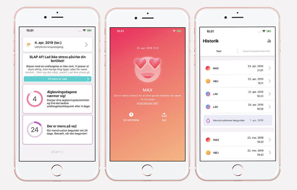 Eveline smart fertilitetssystem med app