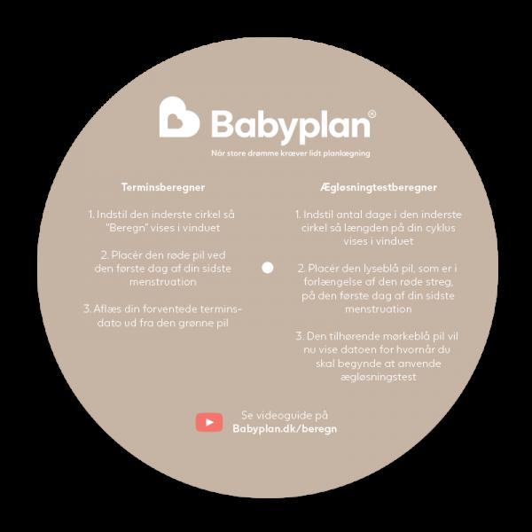 Babyplan terminsberegner og ægløsningstestberegner hjul