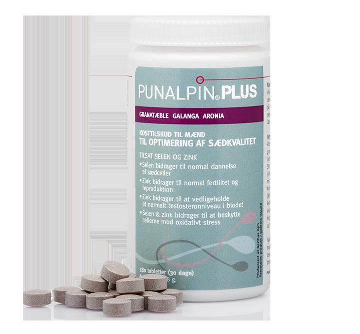 Image of   Punalpin® PLUS (180 tabl.) Granatæble, galanga, aronia, zink, selen